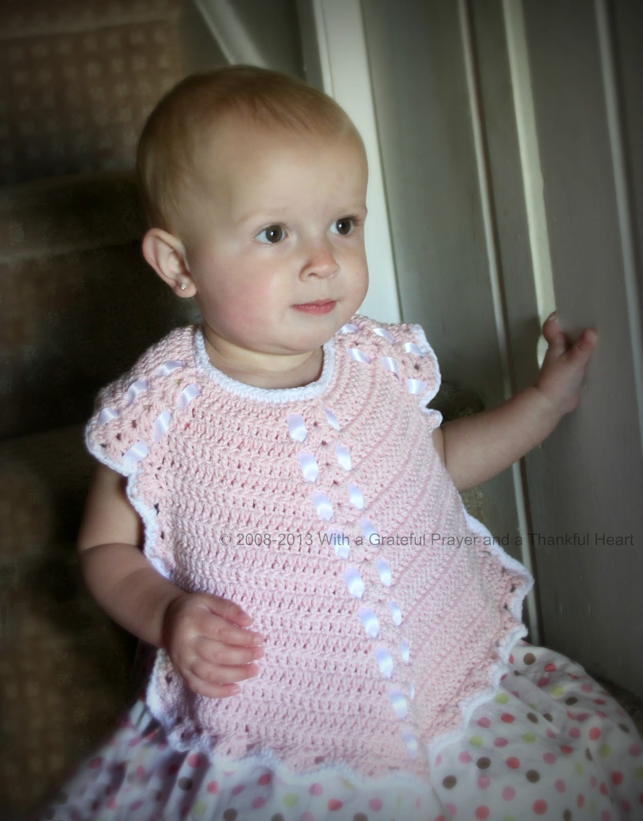 Crochet Baby Bib from Vintage Pattern | Grateful Prayer | Thankful Heart