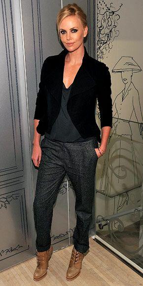 7 dias sete looks da atriz americana Charlize Therone