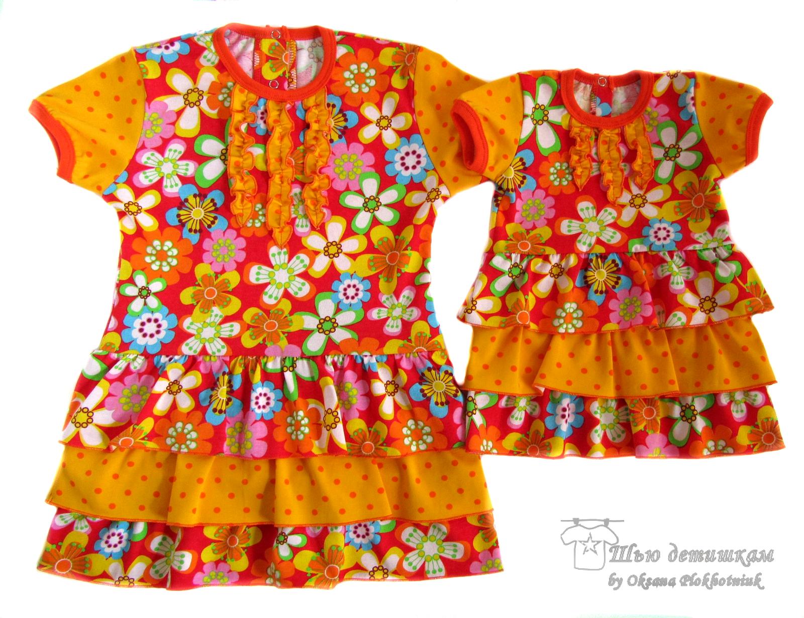 платья для девочек в стиле family look