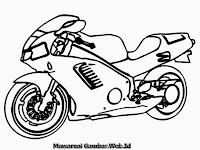 Gambar Motor Sport Honda CBR 250 Untuk Diwarnai
