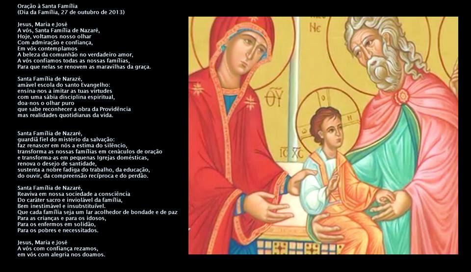 Suficiente O BANQUETE DA PALAVRA: Oração do Papa Francisco à Santa Família ZI91