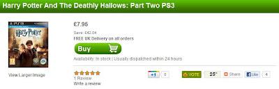 Harry Potter und die Heiligtümer des Todes 2 für PS3 bei zavvi für 7,95 Pfund