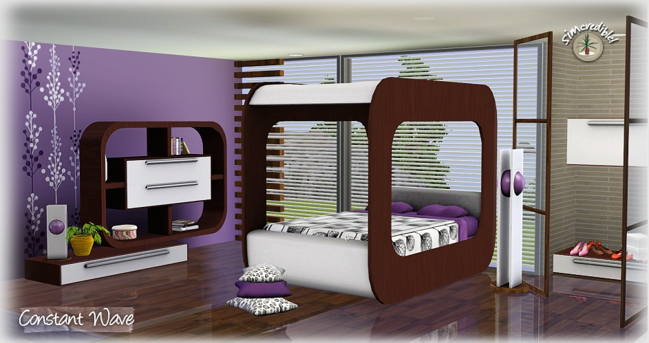 Charming Constant Wave Bedroom Set By Simcredible Designs