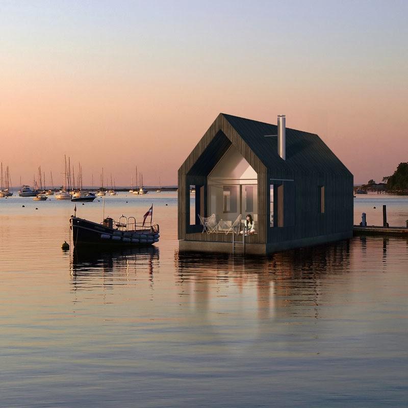 coolest cabins floating cabin. Black Bedroom Furniture Sets. Home Design Ideas