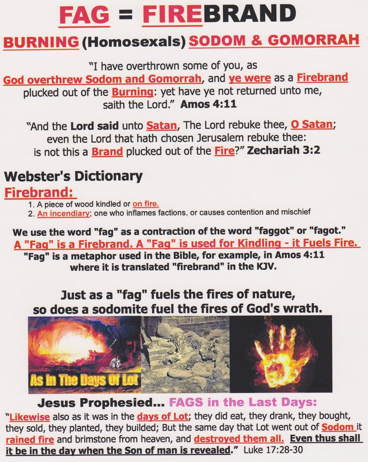 Brain Dead Zombies Fag Homosexals In The Bible The Lord Make