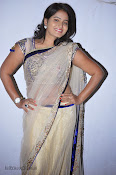 Actress Tanusha Photos in Saree at Present Love Audio-thumbnail-9