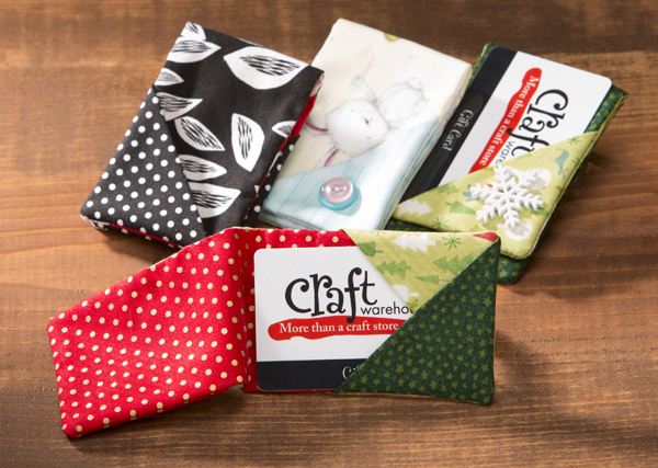 Handmade Gift Card Holder @craftsavvy #craftwarehouse #giftcard #holder #sewing #diy