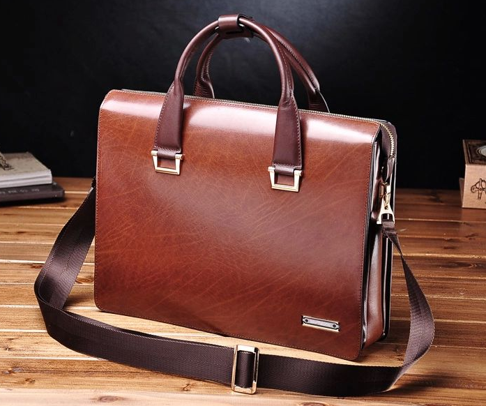 PILAEO Attractive Genuine Mens Leather Business Brown Bag 67MNTA[67MNTAXHPI]