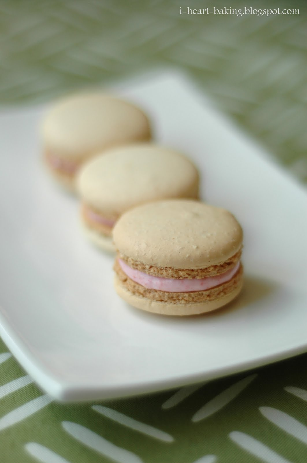 ... to make a combination of my lemon macarons and my strawberry macarons