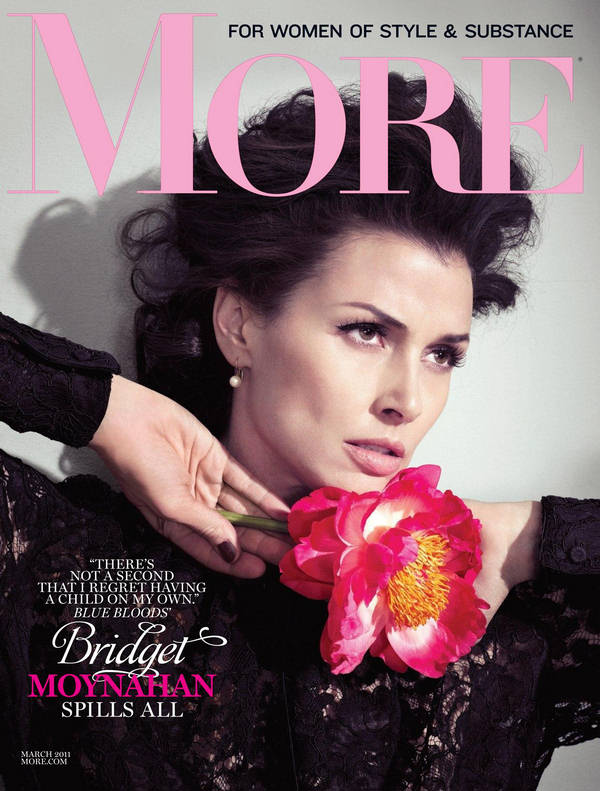 Bridget Moynahan features on the cover of More, March 2011