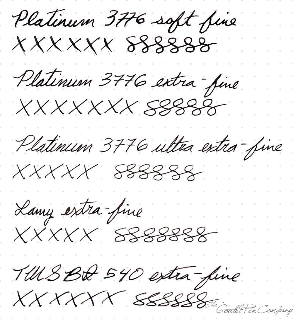 Wed Review Platinum 3776 Extra Fine Nibs Goulet Pens Blog