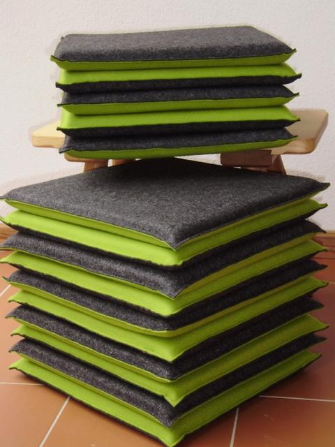 filz wissenswertes und impressionen noch mehr sitzkissen aus wollfilz. Black Bedroom Furniture Sets. Home Design Ideas