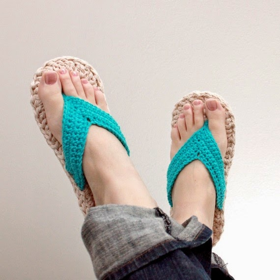 Craft Blog UK - Tips for Selling Craft Online: Crochet Flip Flop Pattern
