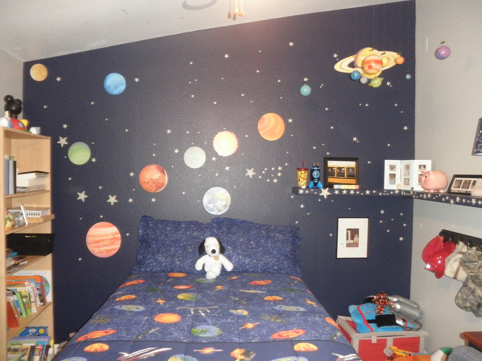 A beagle and a baby this is our outer space bedroom for Outer painting design