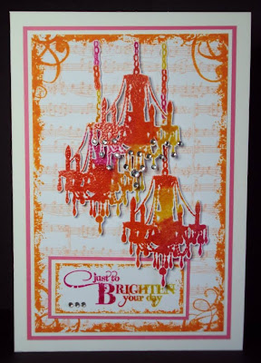 chandelier-brighten your day-grunge flourish -visible image stamps