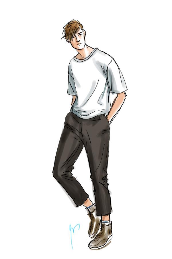 Mens Fashion Sk... Fashion Illustration Templates Men