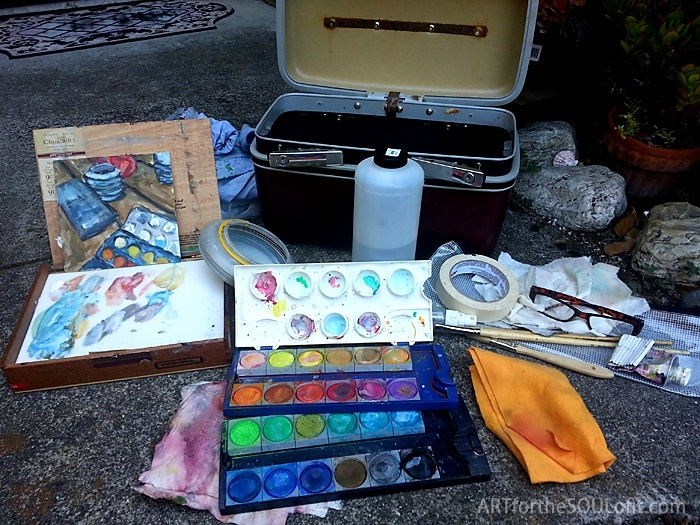 plein air painting kit with all supplies