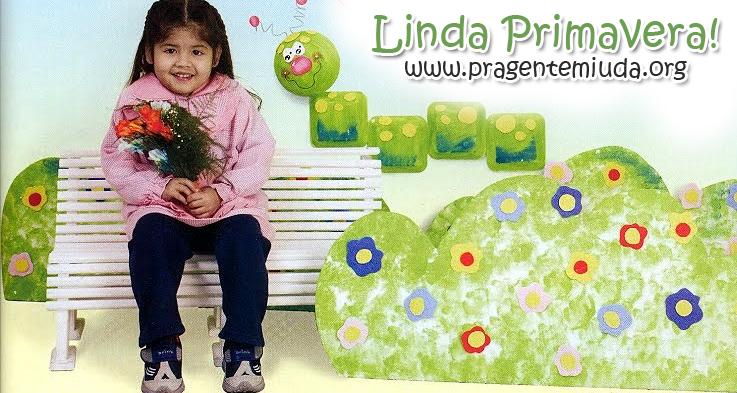 decoração de primavera com pratinhos de isopor