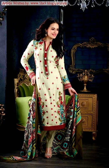 Gul Ahmed Winter Woolen Suit Collection 2014