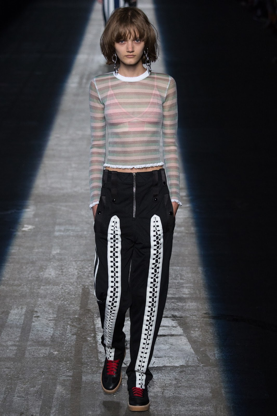 NYFW new york fashion week, soft bra, sheer