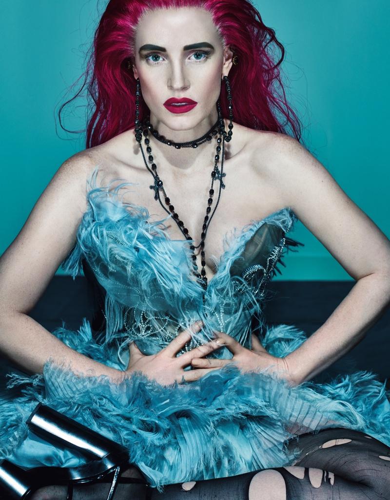 celebrity gothic magazine editorial w magazine november 2015