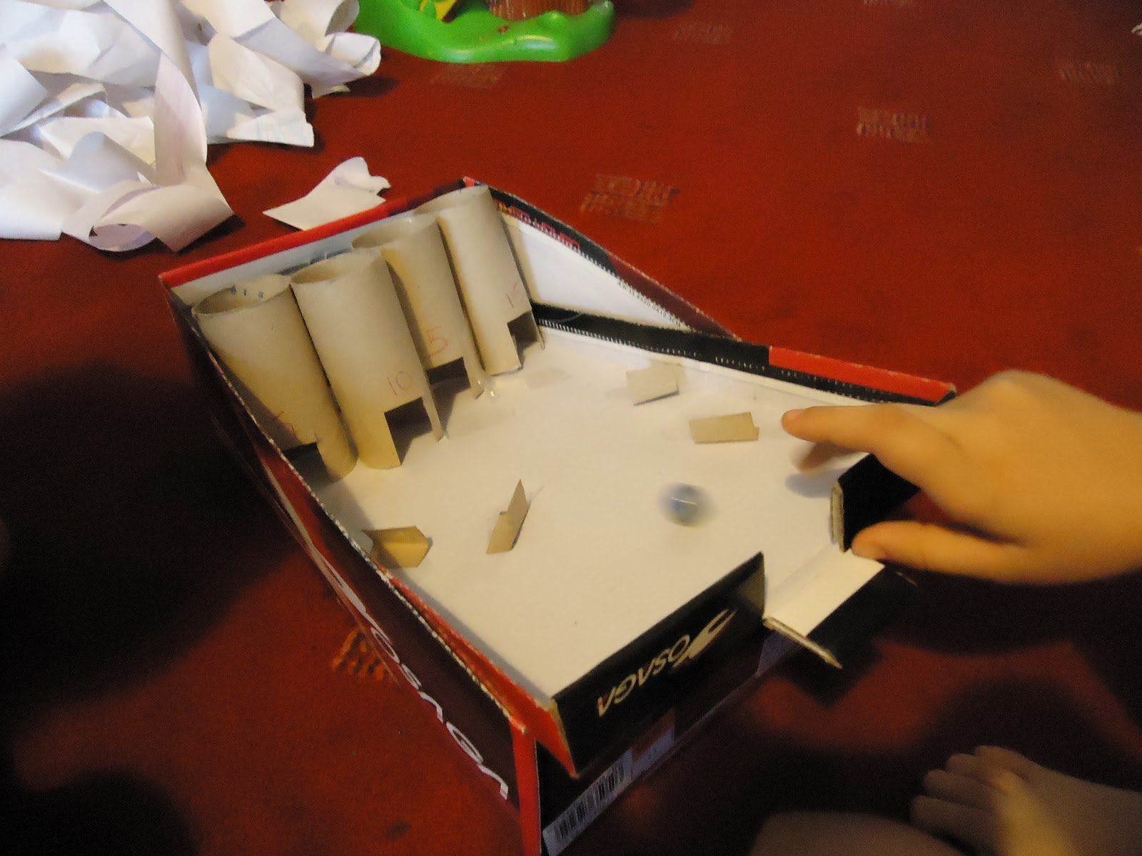 a mothers ramblings a home made marble chance game. Black Bedroom Furniture Sets. Home Design Ideas