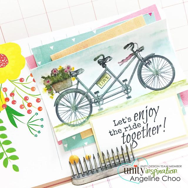 ScrappyScrappy: Let's enjoy this ride together #scrappyscrappy #unitystampco #gracielliedesign #card #distressmarker #watercolor