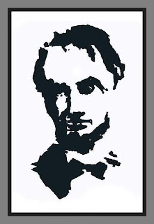 Abraham Lincoln mosaic optical illusion
