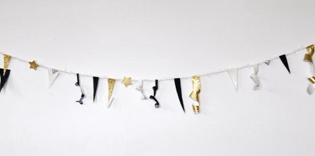 diy sparky new years eve banner