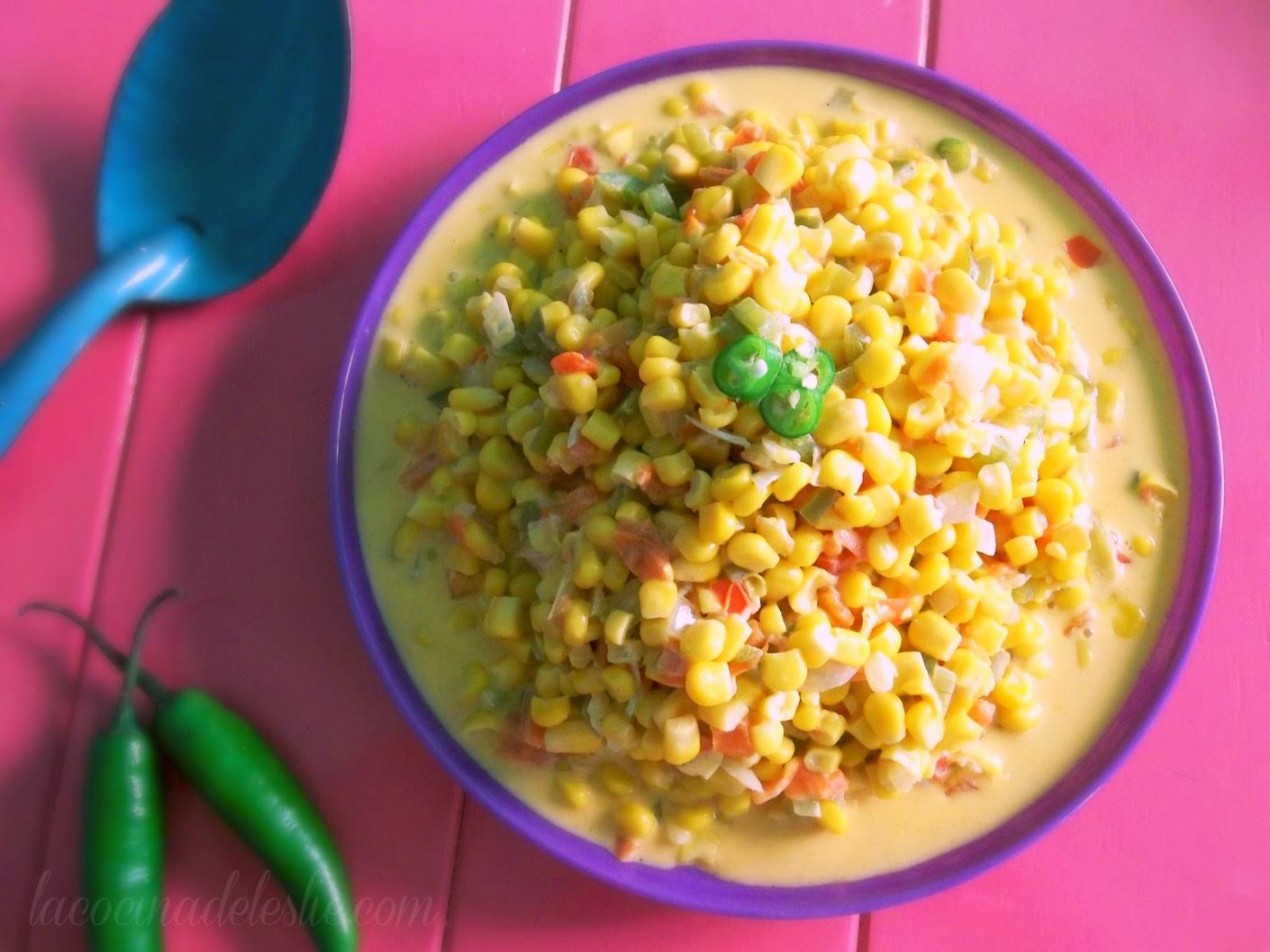 Mexican Creamed Corn - lacocinadeleslie.com