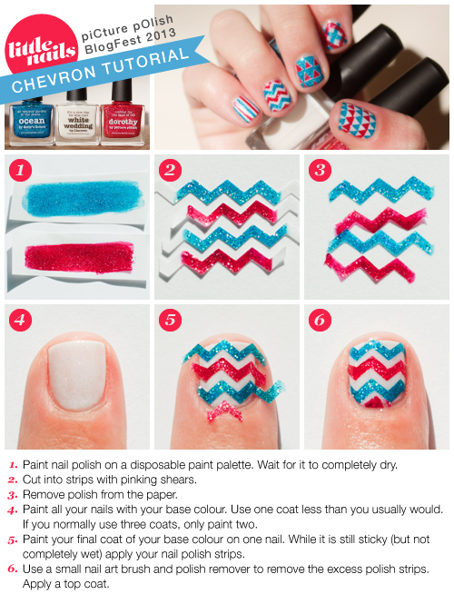 Little Nails Chevron Tutorial