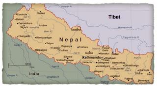 Karte Tibet und Nepal