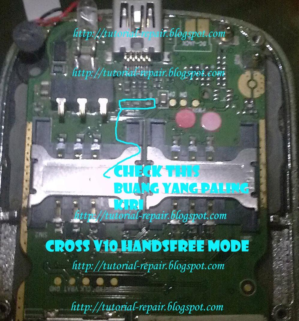 Cross V10 Lambang Headset muncul terus,Jadi hp tidak bisa mengeluarkan
