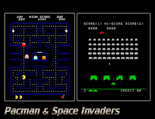 Pac Man, Space Invaders And Super Mario Brothers