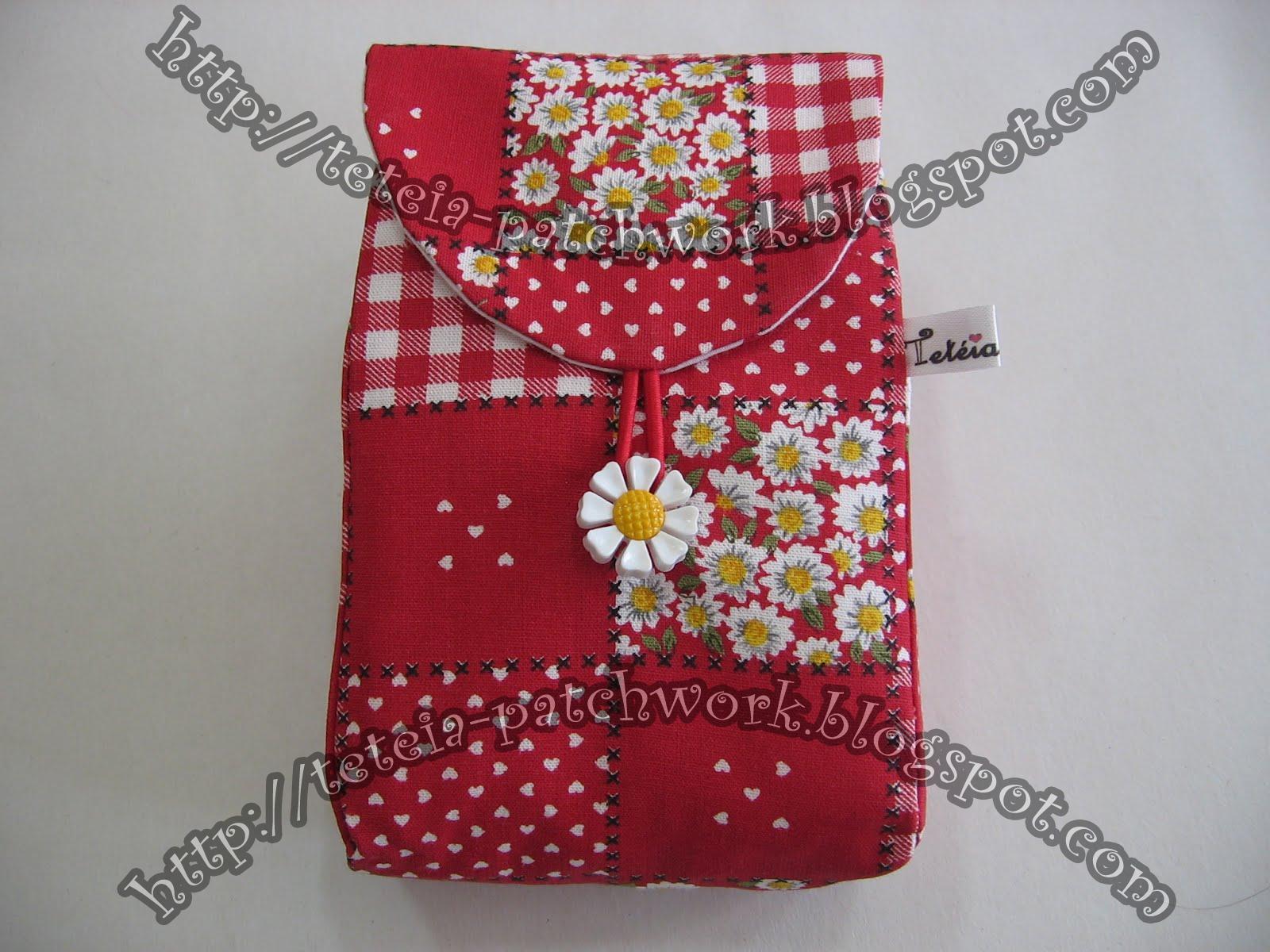Tetéia Patchwork: Kit higiene bucal estampa patchwork/vermelho cod  #A82337 1600x1200
