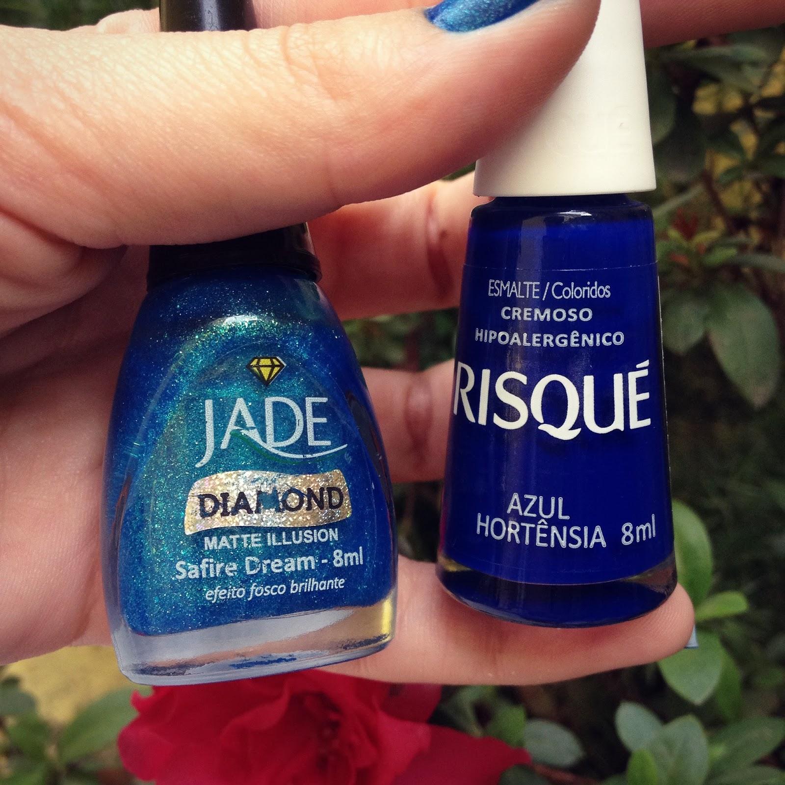 esmalte azul hortênsia da Risqué