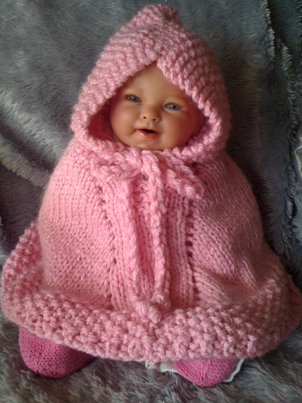 Baby Poncho Knitting Patterns : Claras Corner: THE MIDDLE OF MARCH???????? NO WAY!!!!