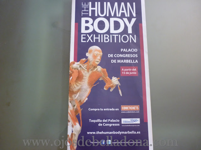 Folleto The Human Body Exhibition Marbella