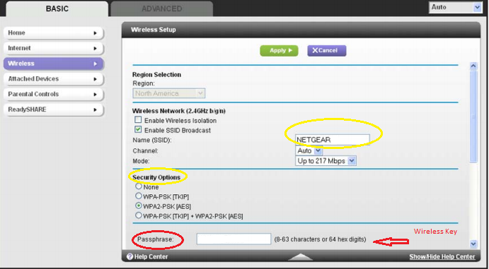 Change Wireless settings and encryption in R6300 Router