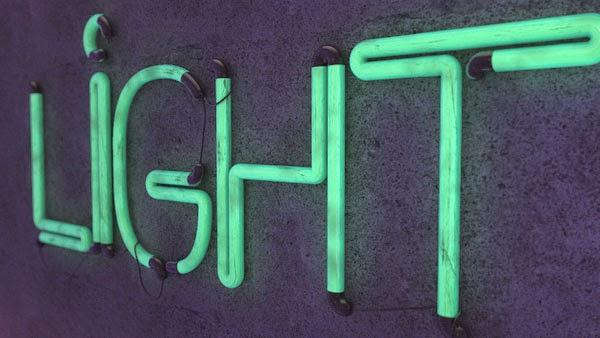 Download Font Kabel Neon Light