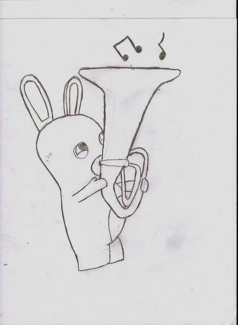 Free coloring pages of an rabbids Rabbids Coloring Pages