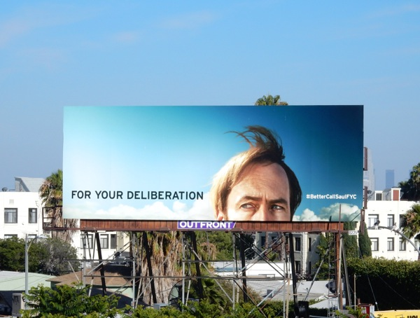 Better Call Saul For Your Deliberation Emmy 2015 billboard