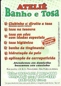ATELIÊ BANHO E TOSA