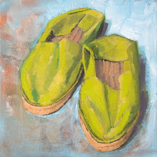 My Things, Green Espandrilles by Liza Hirst