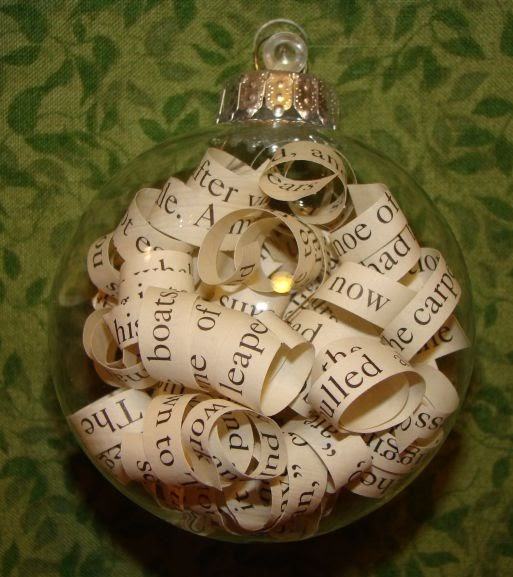 What have i done now old book christmas ornaments for B q christmas decorations