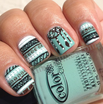 Bellabri tribal nails with dream catcher these tribal nails are so cute i especially love the dream catcher prinsesfo Choice Image