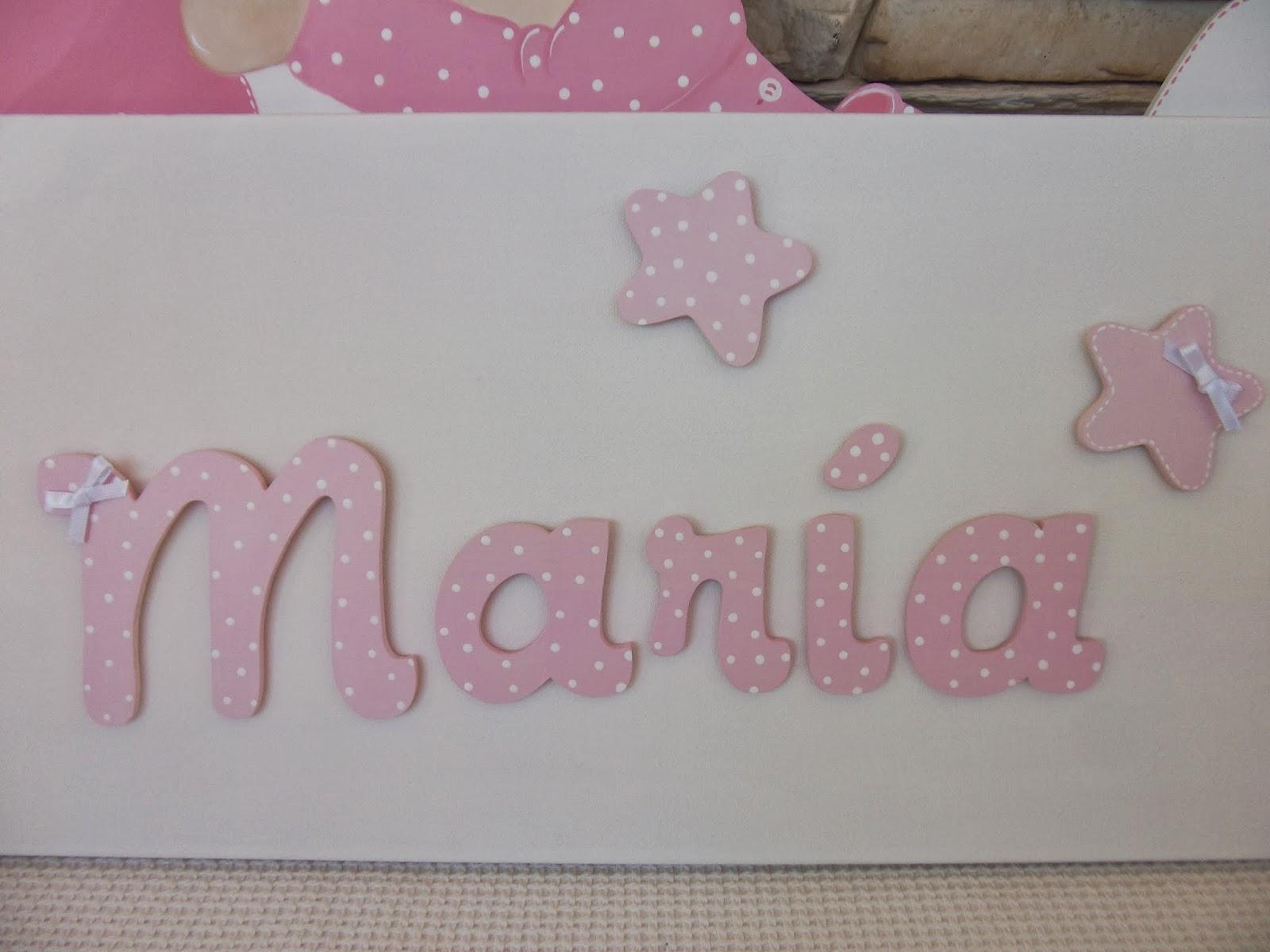 Decoraci n infantil pekerines letras de madera para beb s - Letras bebe decoracion ...