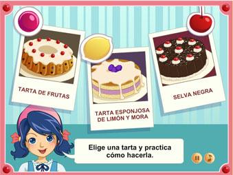 juegos de chicas Cocina Grandprix Pasteles Lorena Games