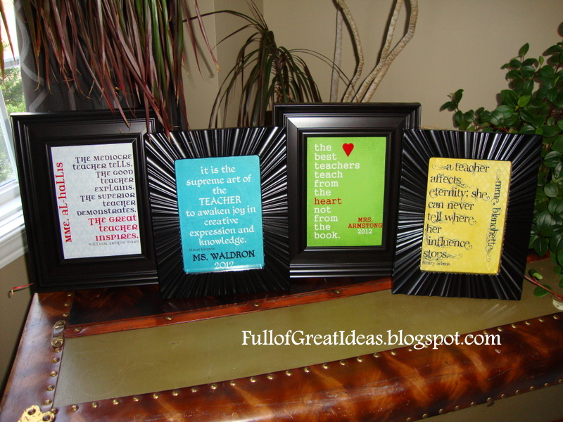 Full of Great Ideas: Teacher Gifts - Free printable quotes and ...