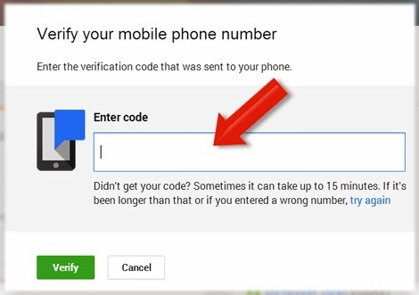 Google Plus mobile verify